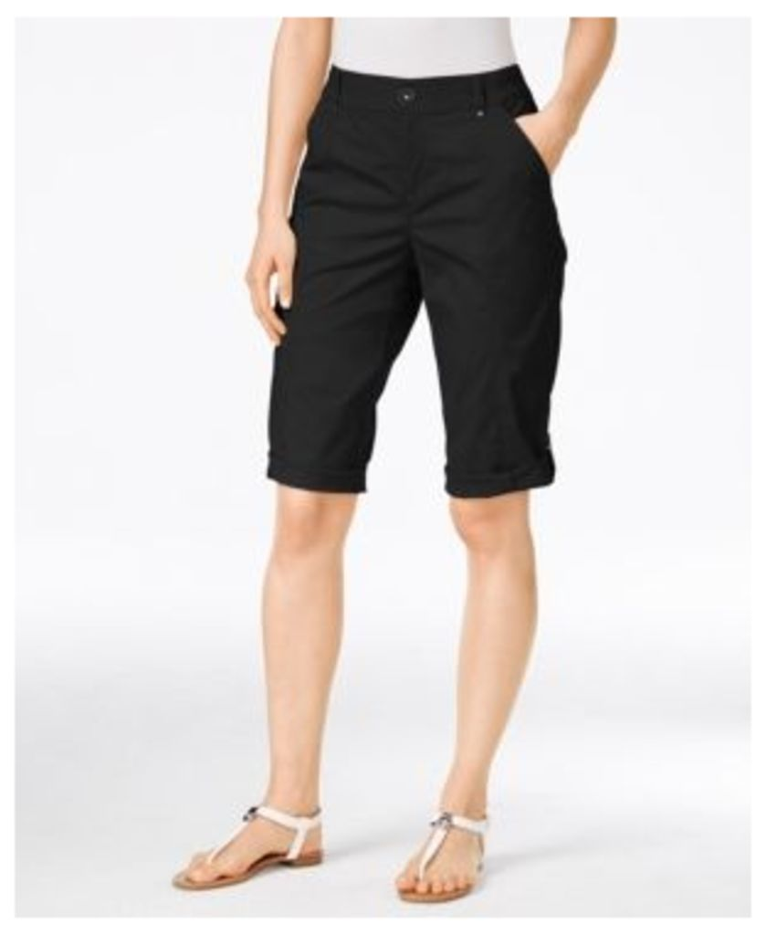 Style & Co. Petite Cuffed Skimmer Shorts, Only at Macy's