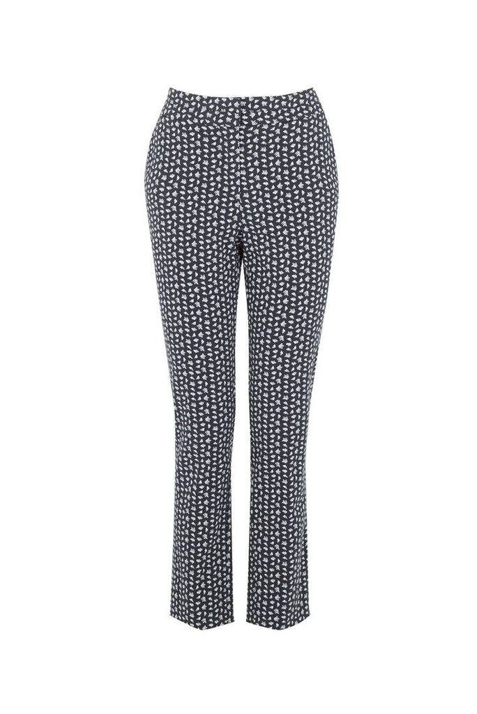 Warehouse Squiggle Print Trousers, Navy