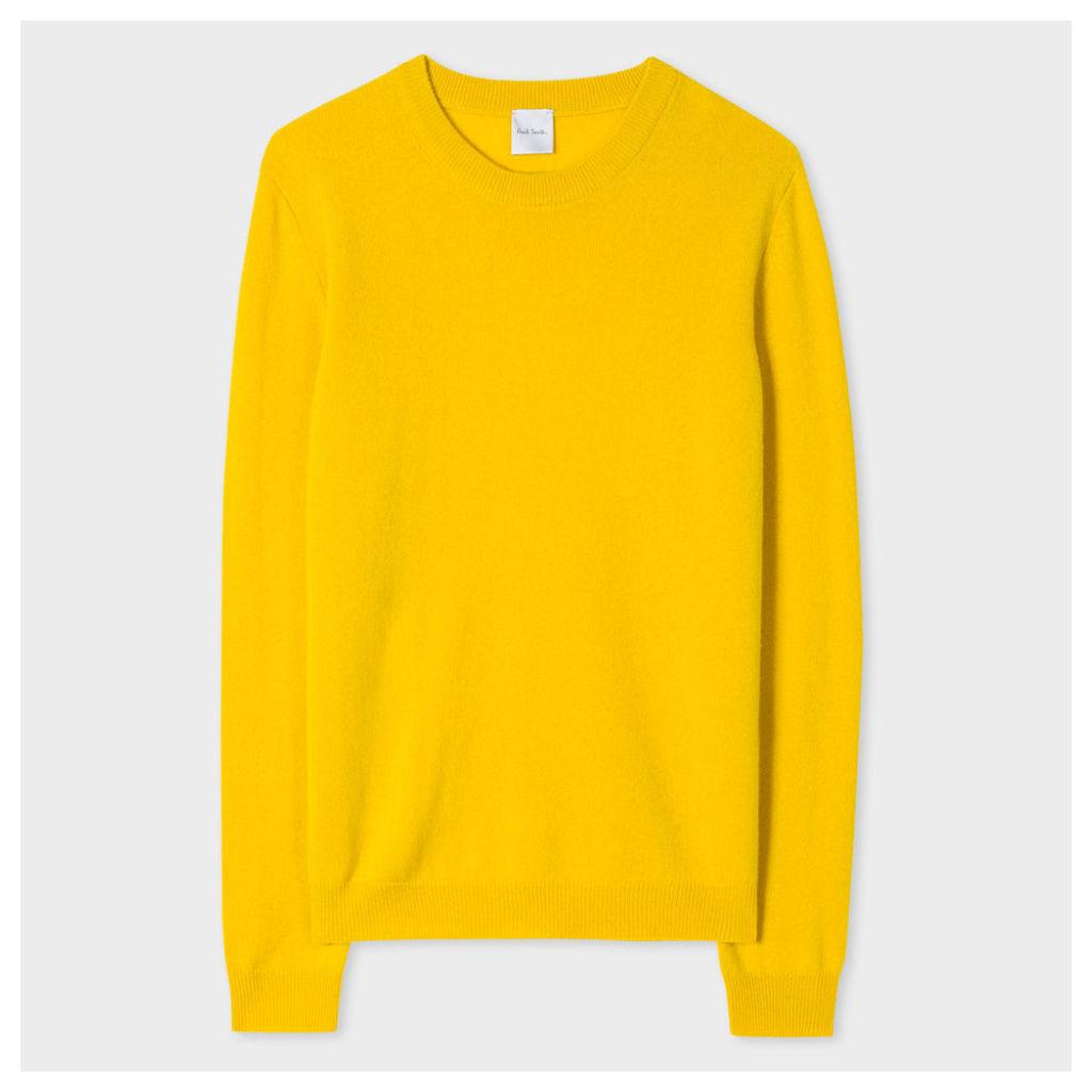 Women's Yellow Cashmere Sweater