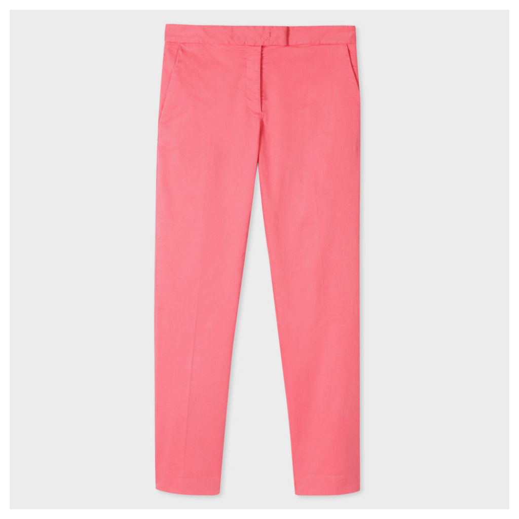 Women's Slim-Fit Coral Stretch-Cotton Chinos