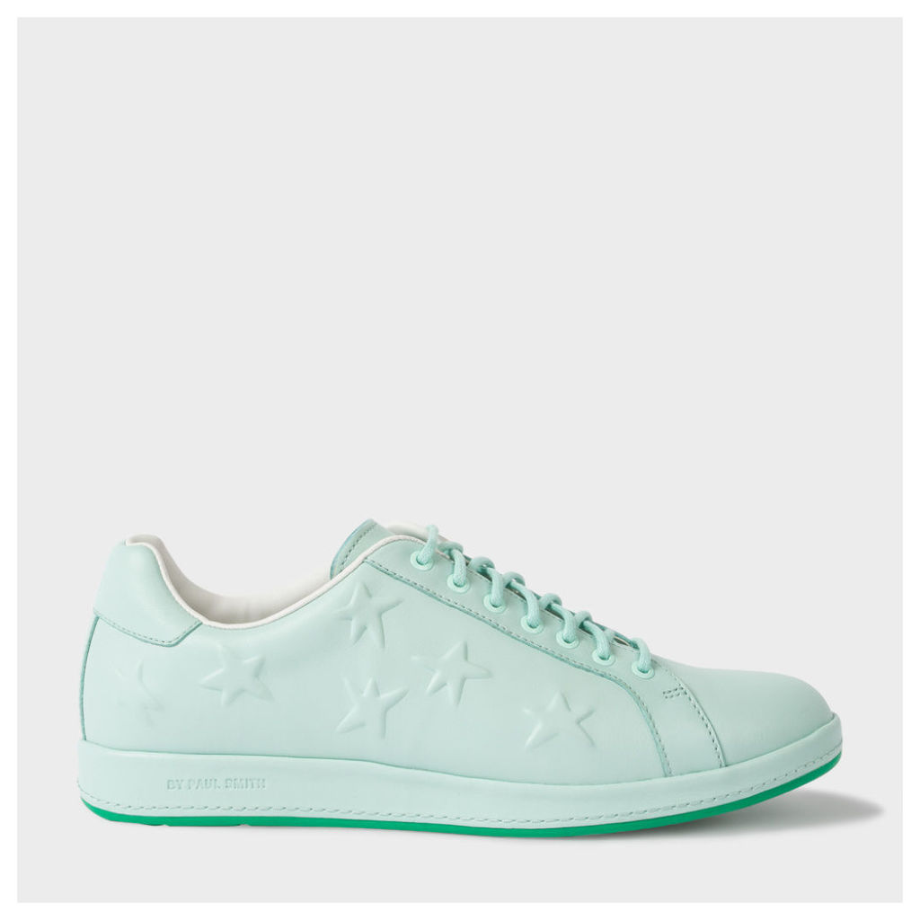 Women's Mint Green Leather 'Lapin' Trainers With Star Emboss