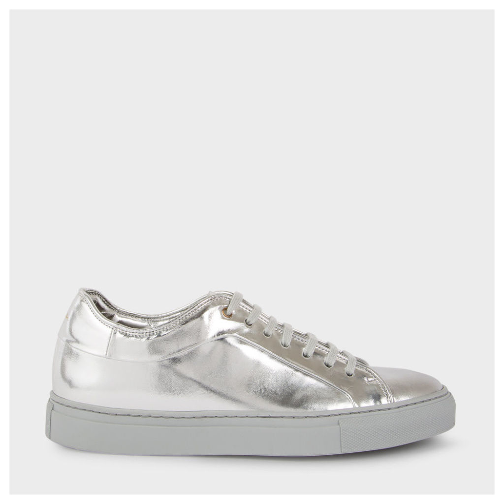 Women's Metallic Silver Leather 'Basso' Trainers