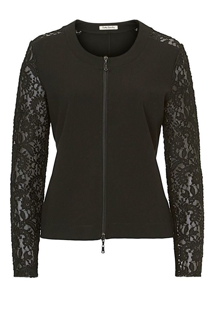 Betty Barclay Jacket with lace sleeves, Black