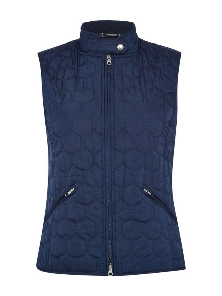 Gant Classic Quilted Gilet, Blue