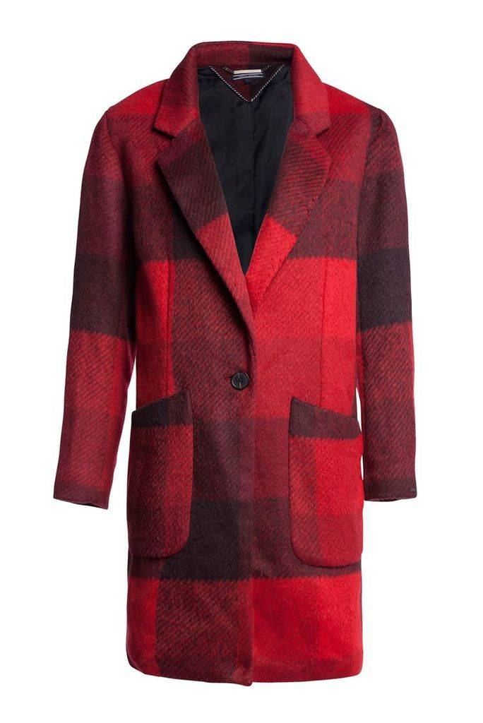 Tommy Hilfiger Izzy Wool Coat, Red