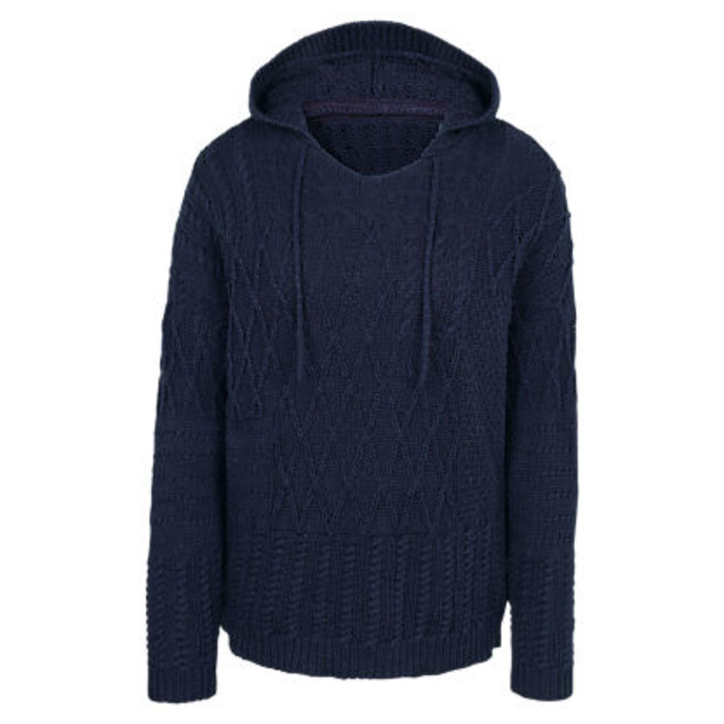 Fat Face Tenley Patchwork Knitted Hoodie