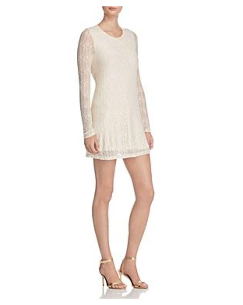 Aqua Rose and Vine Lace Dress