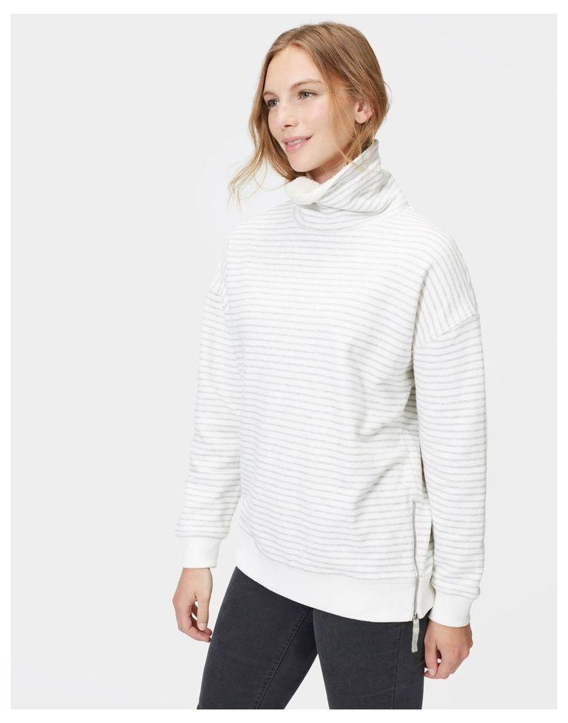 Grey Stripe Blakeney Sweatshirt  Size 6   Joules UK