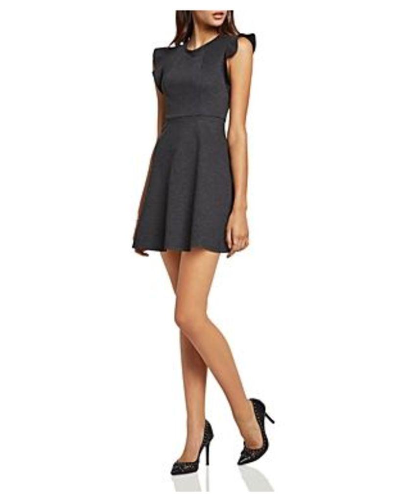 BCBGeneration Ponte Flutter-Sleeve Dress
