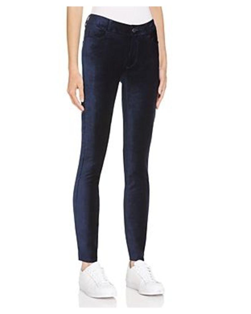 Paige Verdugo Ultra Skinny Velvet Jeans in Midnight Royal