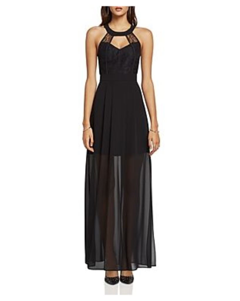 BCBGeneration Lace Inset Evening Dress