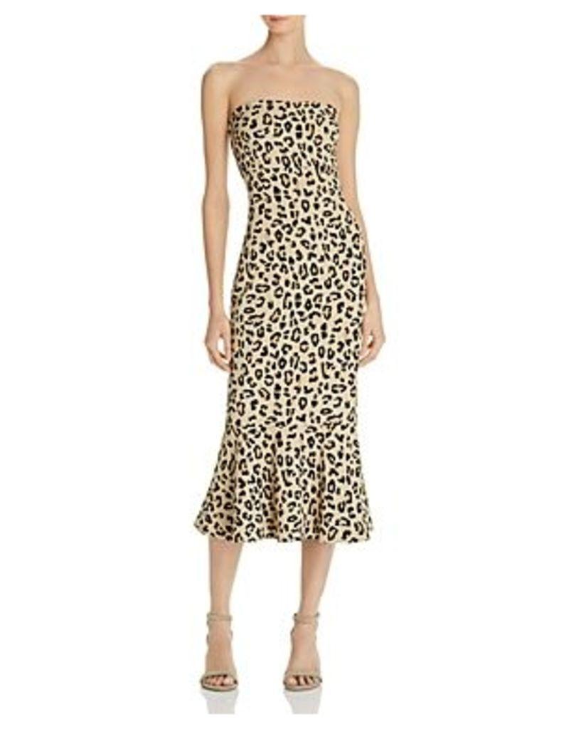 Cinq a Sept Leopard Luna Strapless Dress