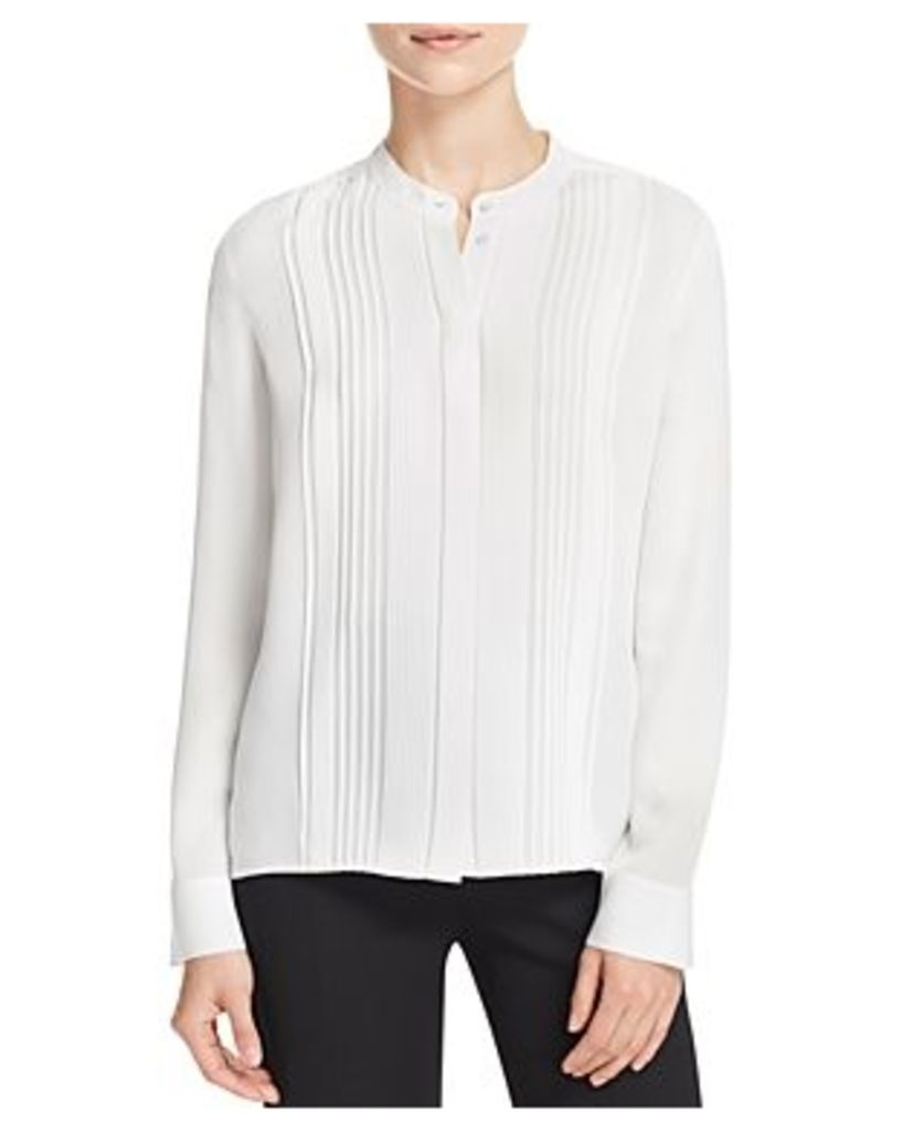 Vince Pleated Silk Shirt