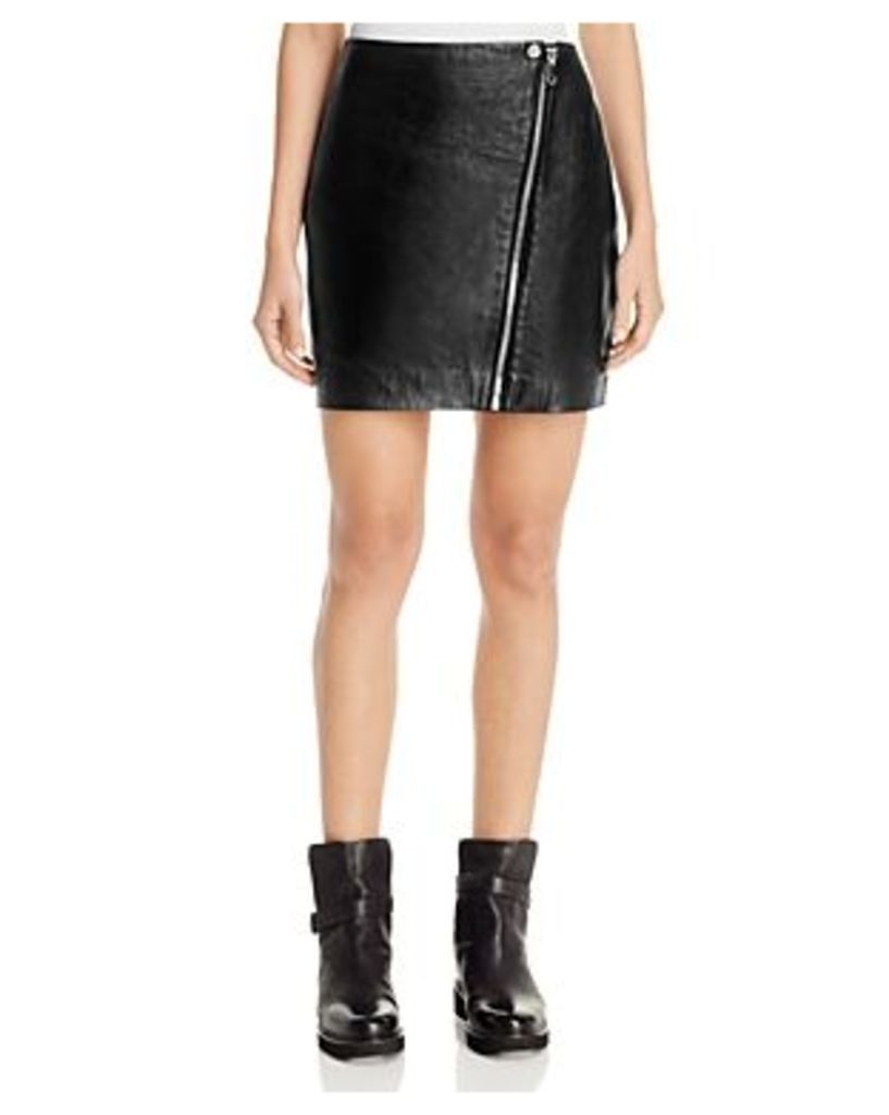 Aqua x Maddie & Tae Leather Zip Mini Skirt - 100% Bloomingdale's Exclusive