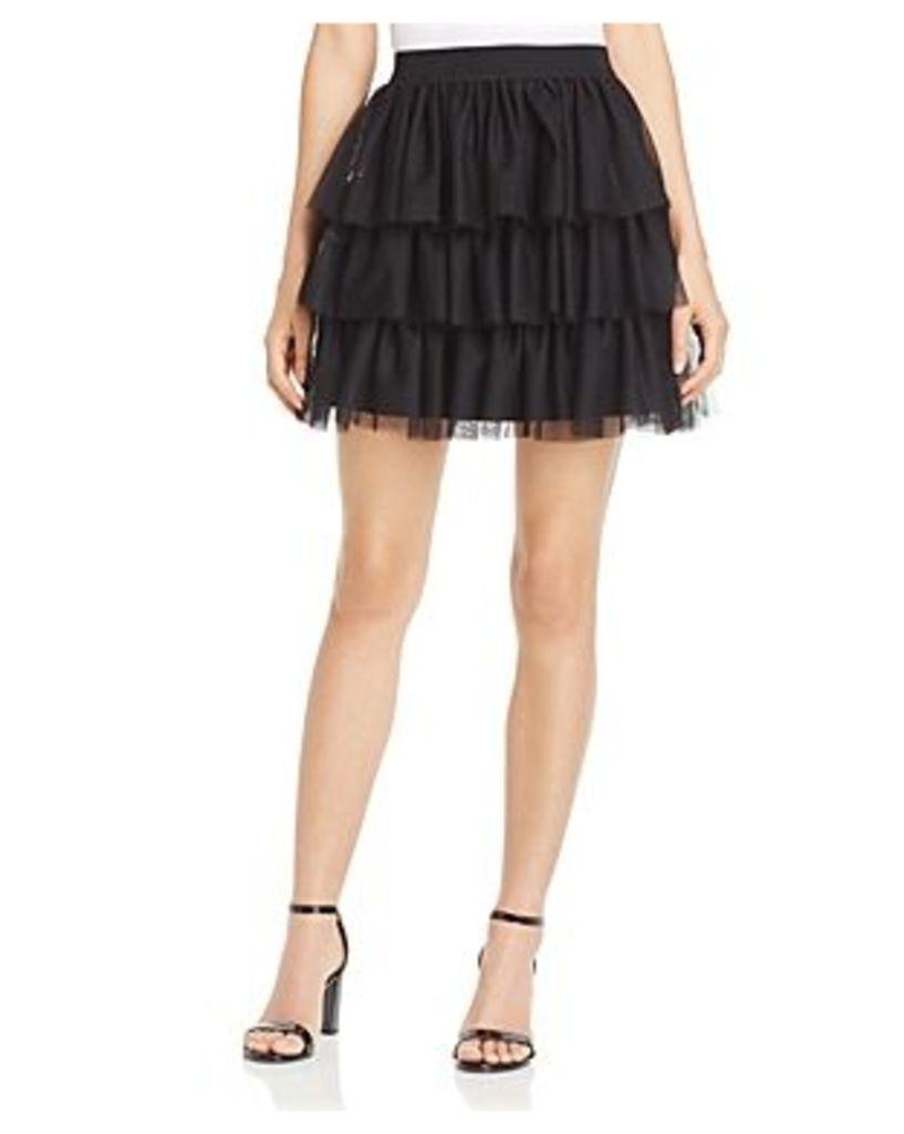 Aqua Tulle Tiered Skirt