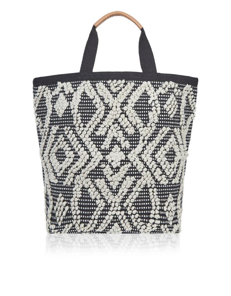 Black & White Bobble Shopper Bag