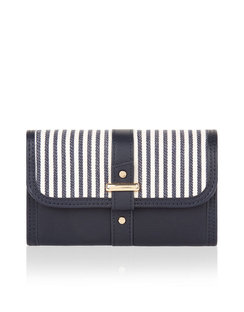 Ticking Stripe Wallet