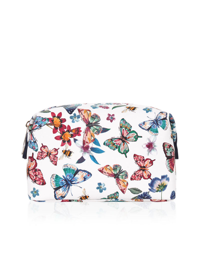 Butterfly Printed Makeup Bag