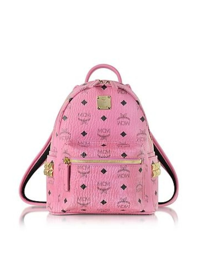 MCM - Pink Mini Stark Backpack