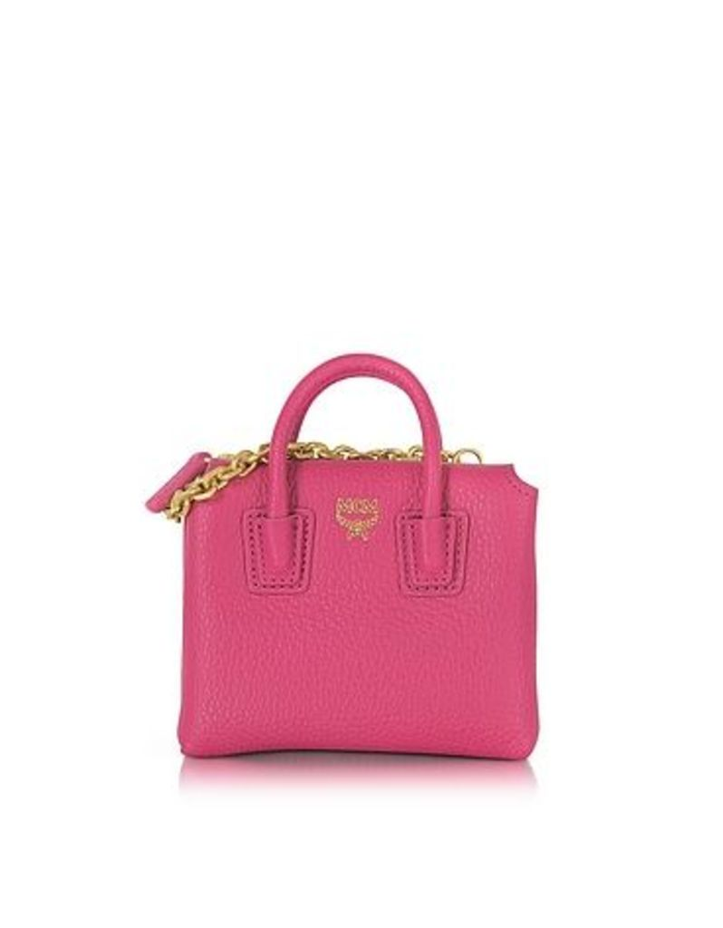 MCM - Pink Leather Milla Mini Bag Card Case