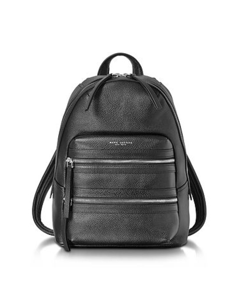 Marc Jacobs - Black Pebbled Leather Biker Backpack