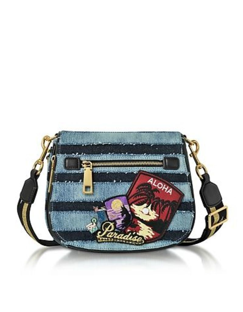 Marc Jacobs - Denim Small Nomad Saddle Bag