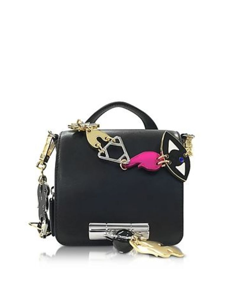 Kenzo - Black Leather Sailor Bag w/Signature Chain