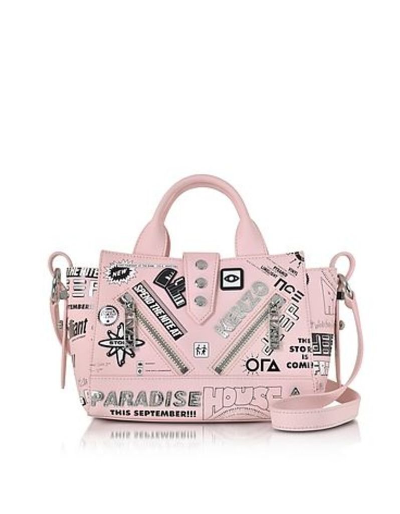 Kenzo - Pink Leather Mini Kalifornia x Flyers