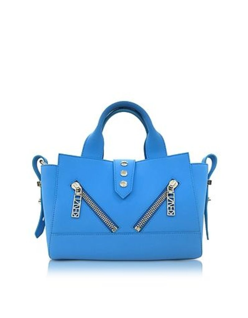 Kenzo - Sky Blue Soft Rubberized Gommato Leather Mini Kalifornia Satchel