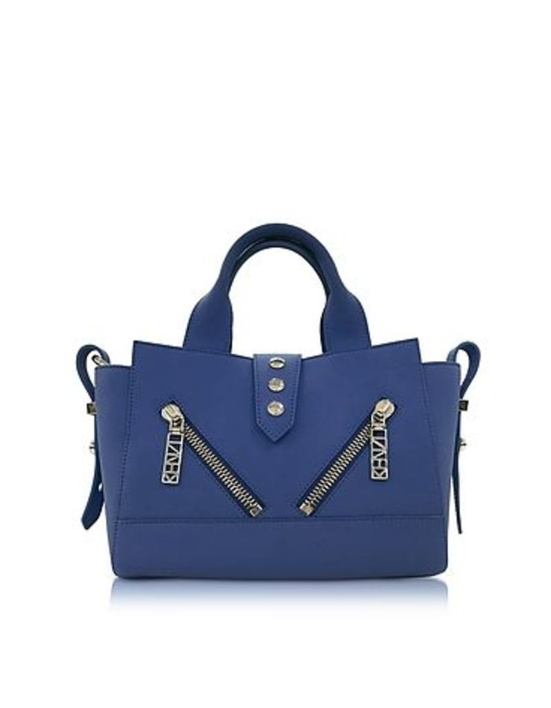 Kenzo - Dark Blue Soft Rubberized Gommato Leather Mini Kalifornia Satchel