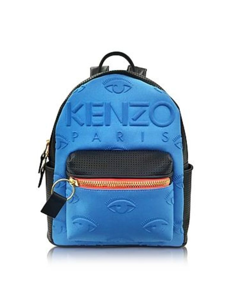 Kenzo - Metallic Denim Blue and Leather Kombo Backpack