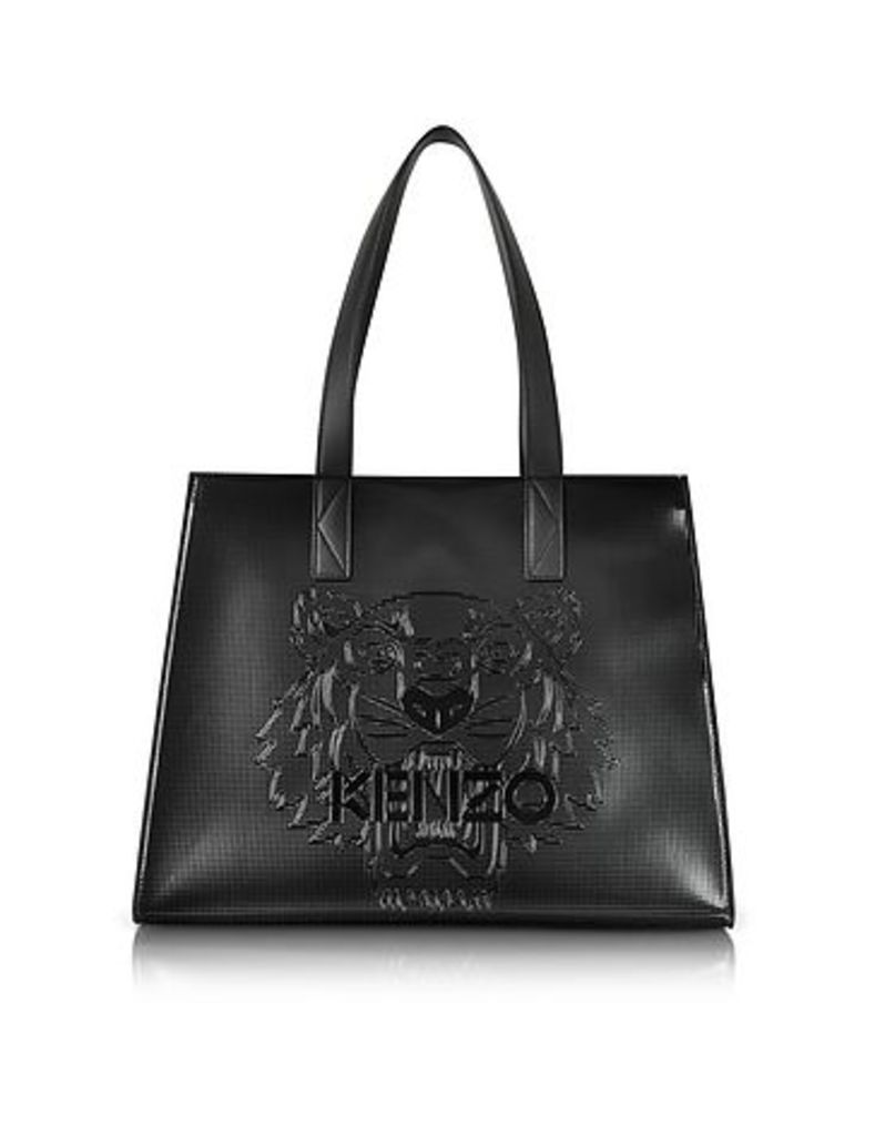 Kenzo - Metallic Black Tiger Tote Bag