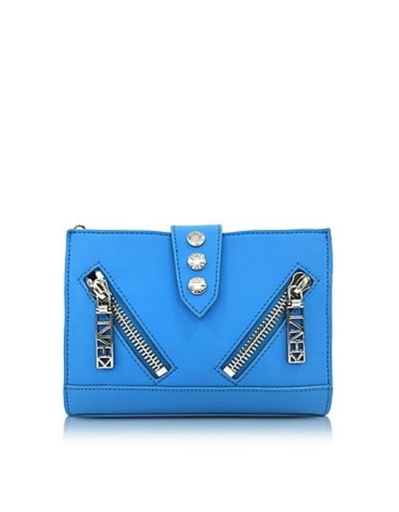 Kenzo - Sky Blue Gommato Leather Kalifornia Wallet on Chain
