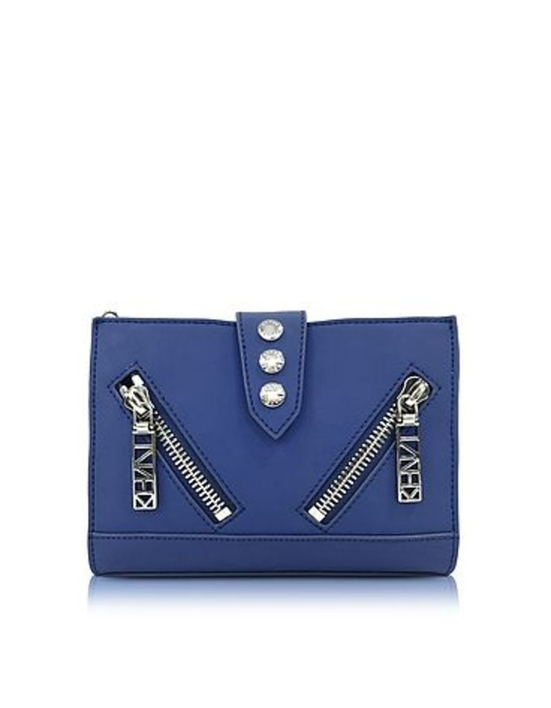 Kenzo - Dark Blue Gommato Leather Kalifornia Wallet on Chain