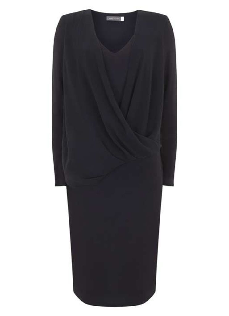 Ink Wrap Front Jersey Dress