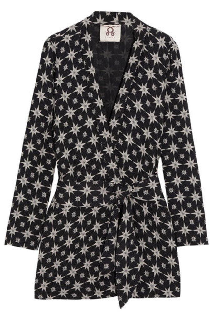 Figue - Akila Printed Crepe Jacket - Black