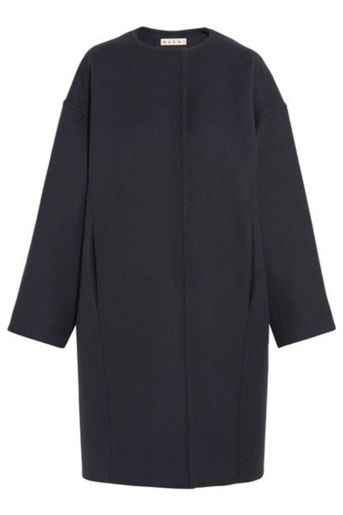 Marni - Oversized Wool-felt Coat - Navy