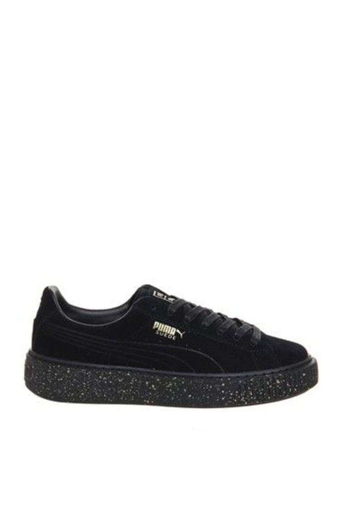 Womens **Suede Platform Trainers by Puma - Multi, Multi