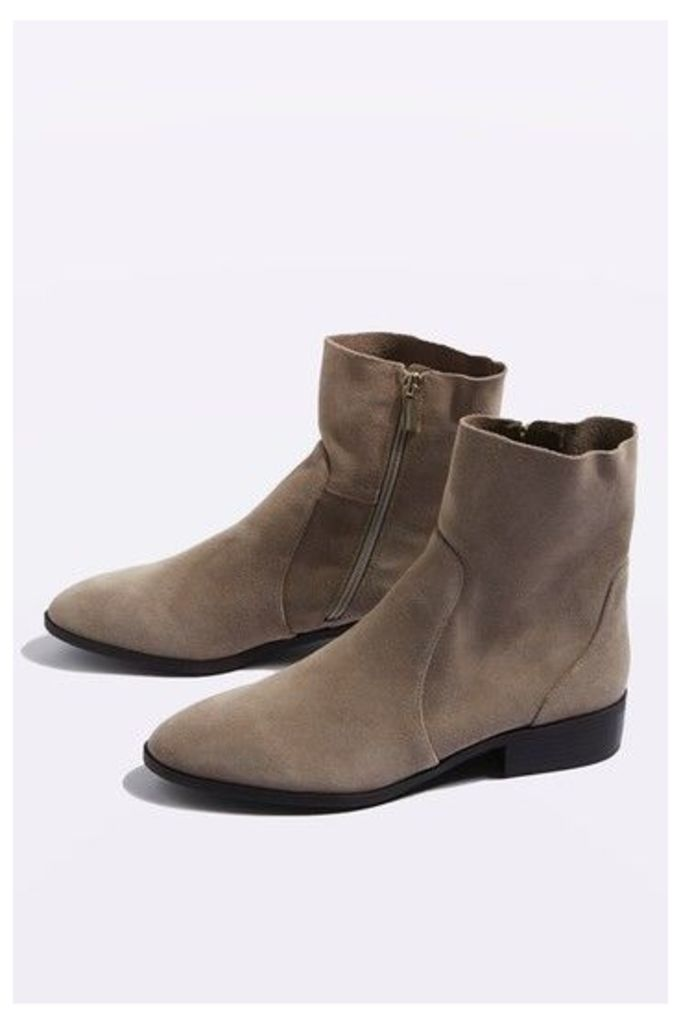 Womens KLASH Leather Sock Boots - Taupe, Taupe