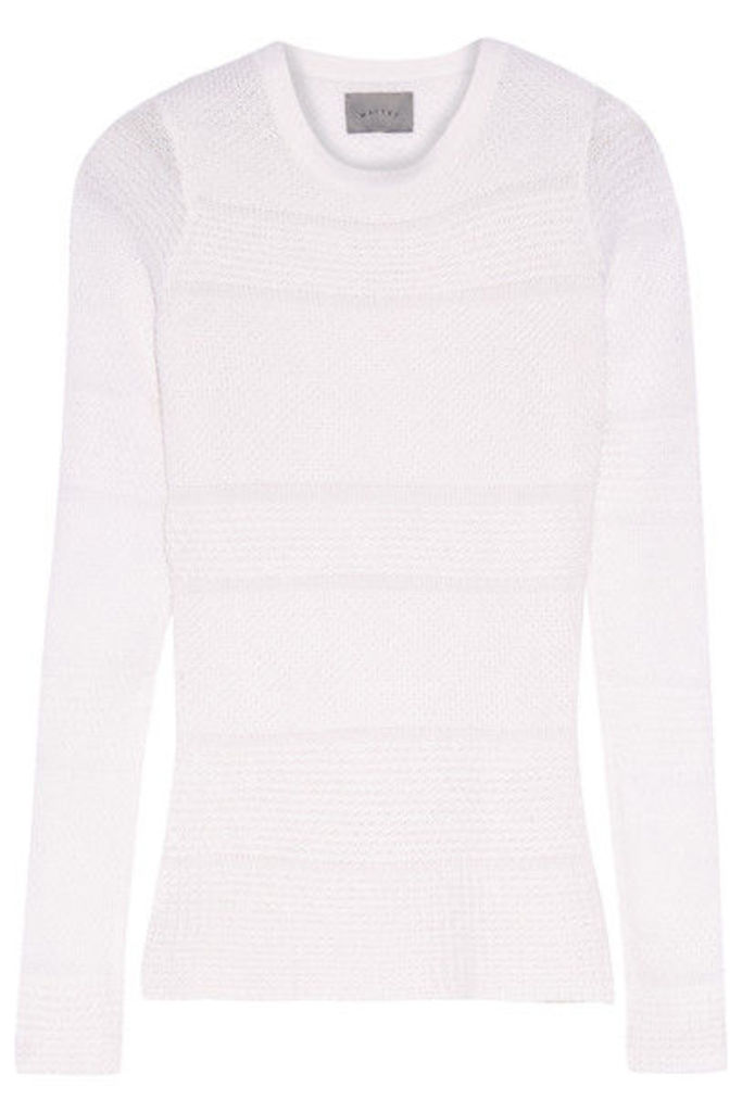 Maiyet - Open-knit Cashmere And Silk-blend Sweater - Ivory
