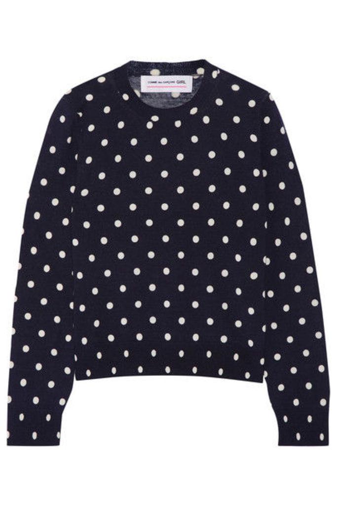 Comme des Garçons GIRL - Polka-dot Intarsia Wool Sweater - Navy