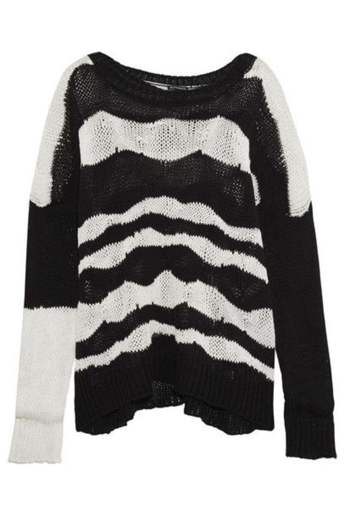 Ann Demeulemeester - Striped Cotton And Cashmere-blend Sweater - Black