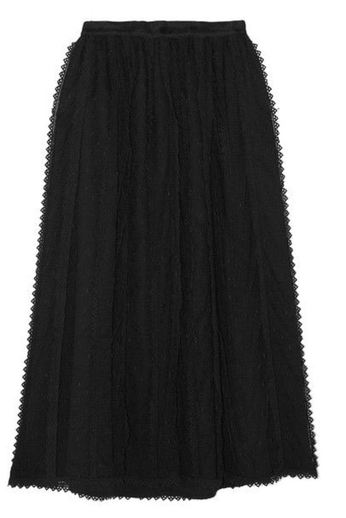 REDValentino - Lace-trimmed Tulle Midi Skirt - Black