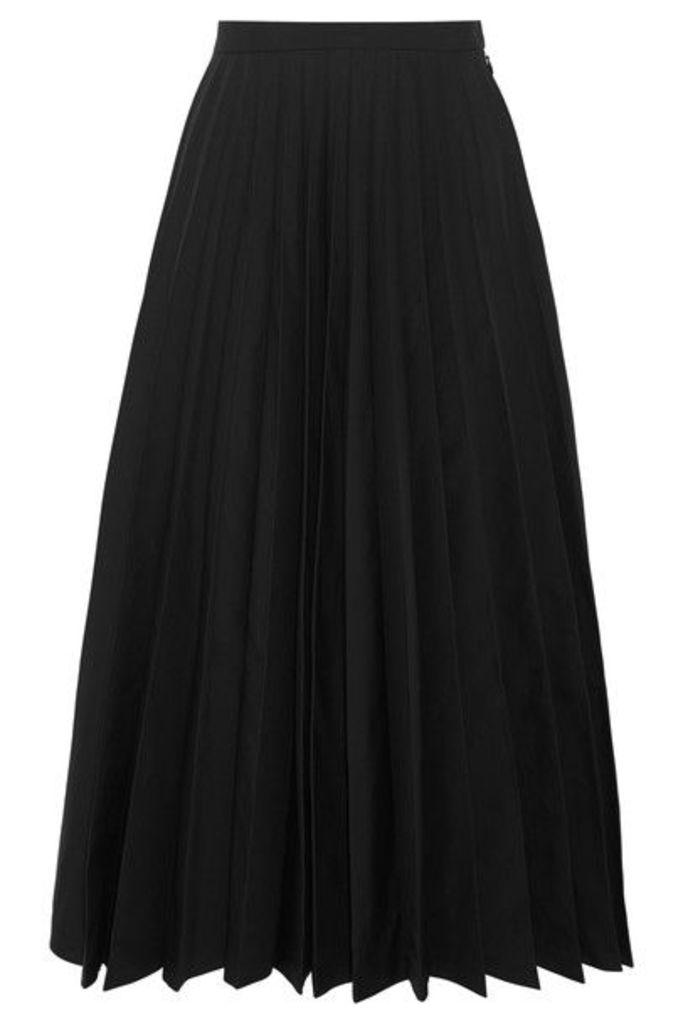 Junya Watanabe - Pleated Taffeta Midi Skirt - Black