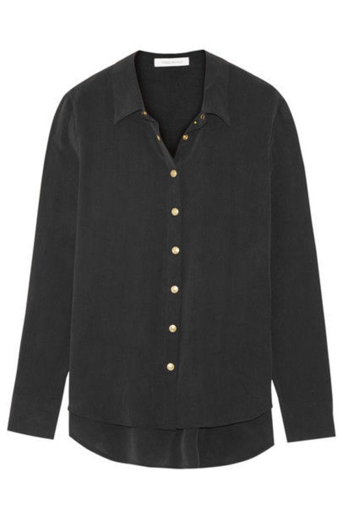 Pierre Balmain - Washed-silk Shirt - Black