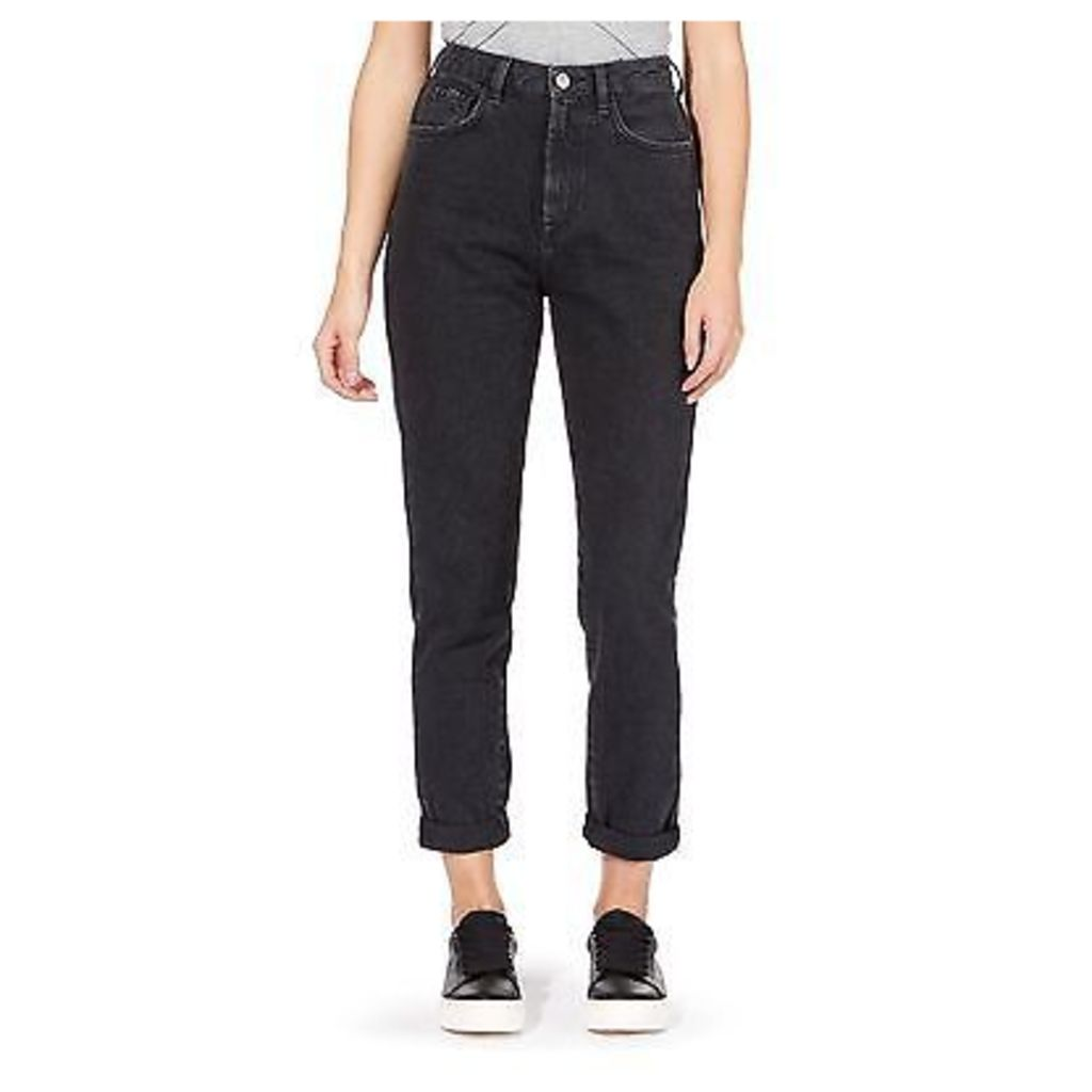 Red Herring Womens Black ''Demi Mom' High Waisted Straight Jeans From Debenhams