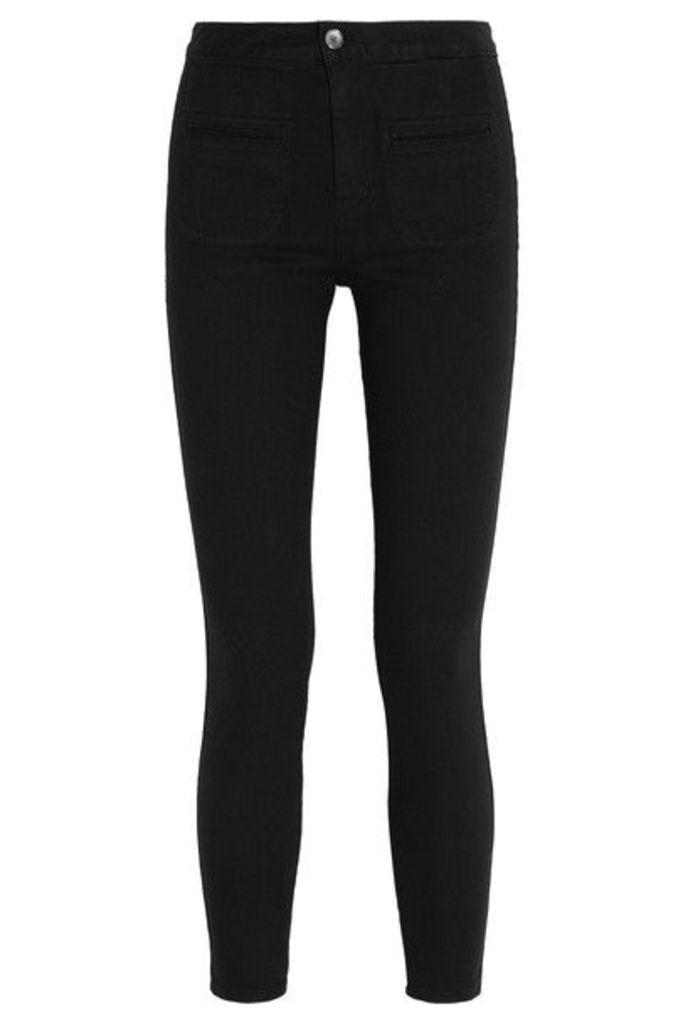 Kate Moss for Equipment - Warren Stretch-twill Skinny Pants - Black