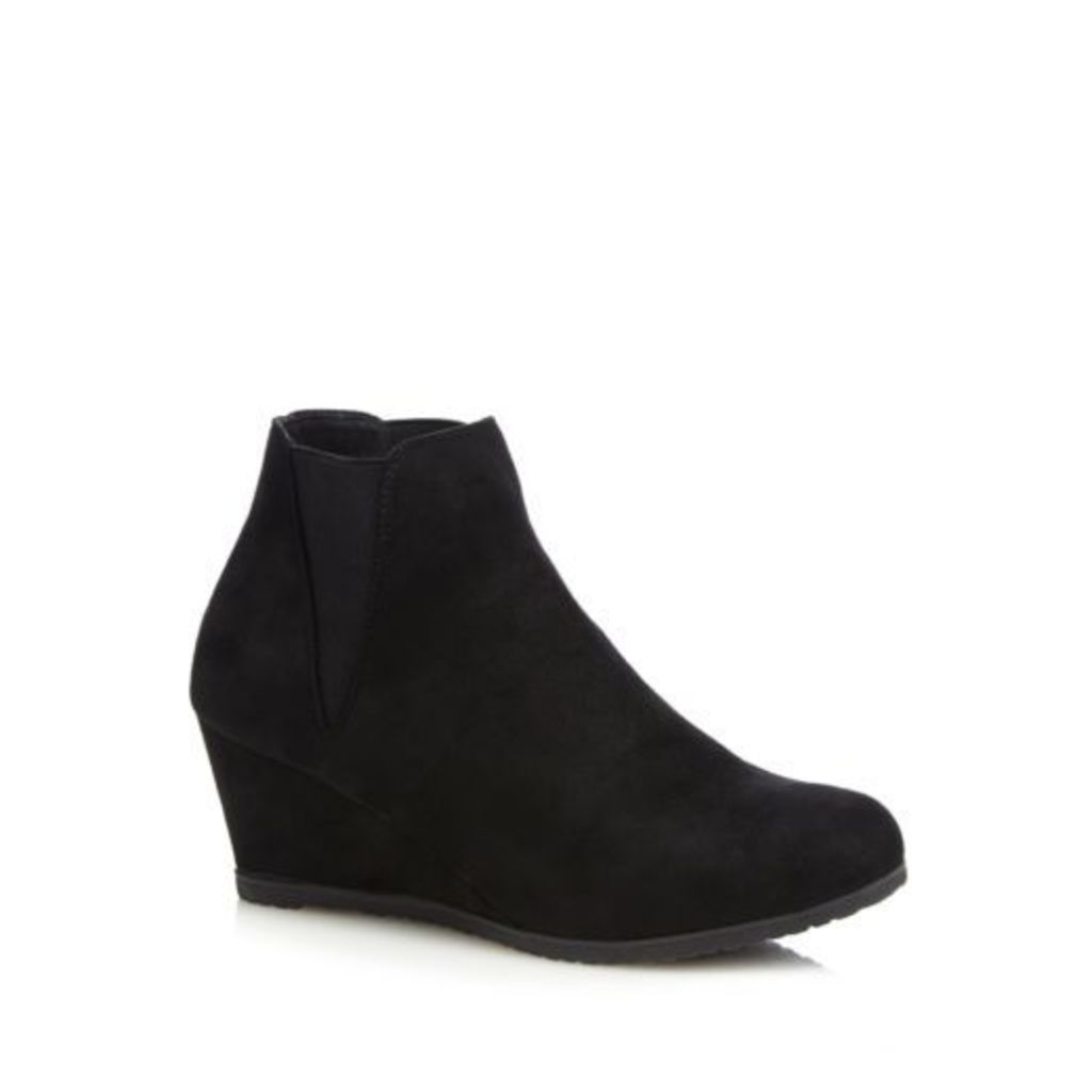Good For The Sole Womens Black Wide Fit High Wedge Shoes From Debenhams