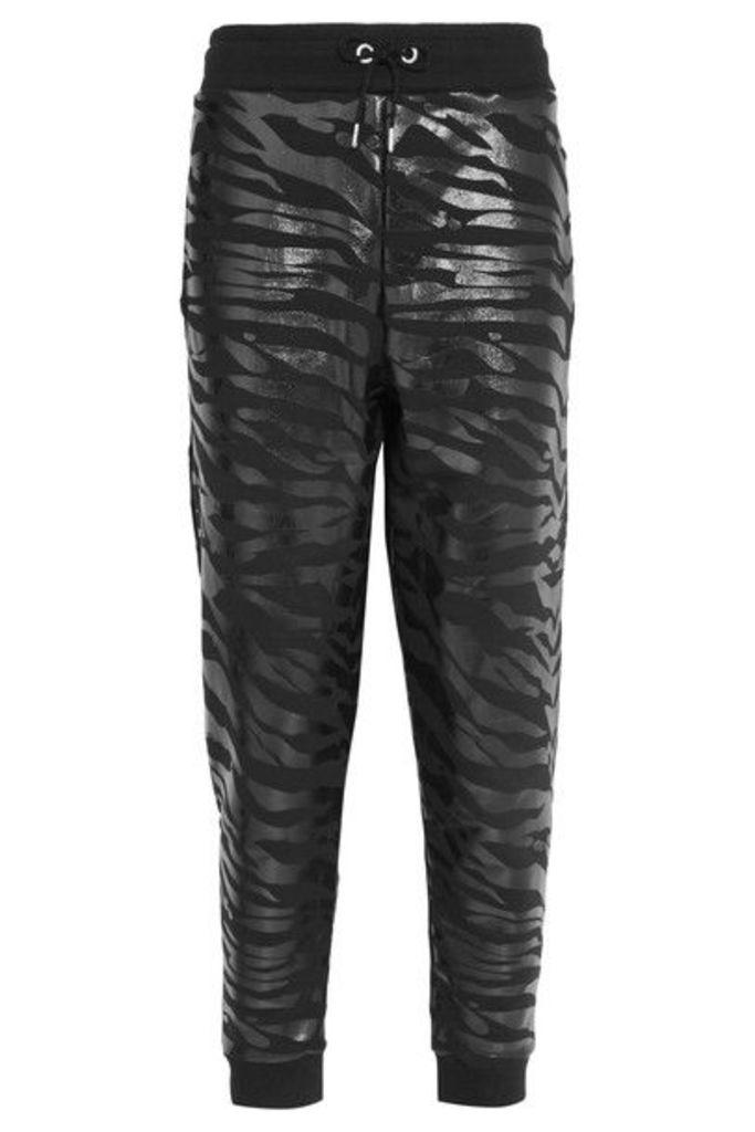 KENZO - Printed Cotton-jersey Track Pants - Black