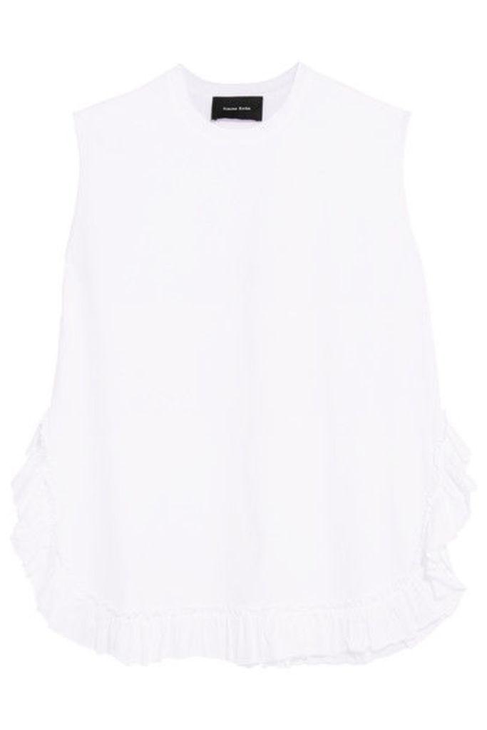 Simone Rocha - Ruffled Cotton-jersey T-shirt - White